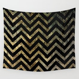 Brass Chevrons Wall Tapestry