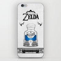 the legend of zelda iPhone & iPod Skins featuring Zelda legend - Blue potion  by Art & Be