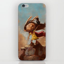 The Rabbit's Unwanted Visitor iPhone Skin
