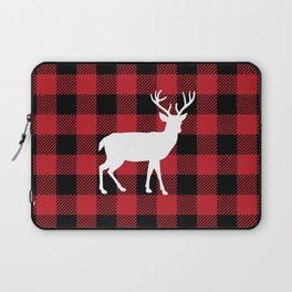 Buffalo Plaid - Deer Laptop Sleeve