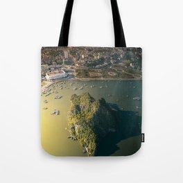 Last light of Ha Long Bay, Vietnam. Tote Bag