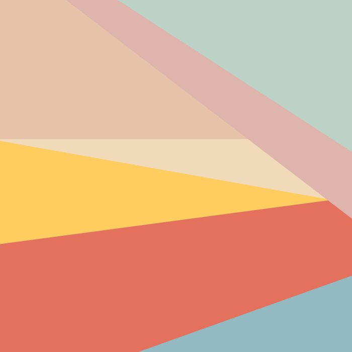 Retro Abstract Geometric Duvet Cover