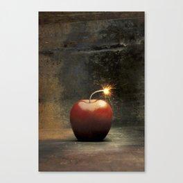 Apple bomb Canvas Print