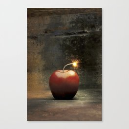 Apple bomb Canvas Print