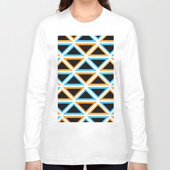 Colorful Triangle (Ranging Tribuj) Long Sleeve T-shirt