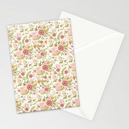 Pink Floral Medley Stationery Cards