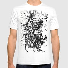 dredd glyph Mens Fitted Tee White SMALL