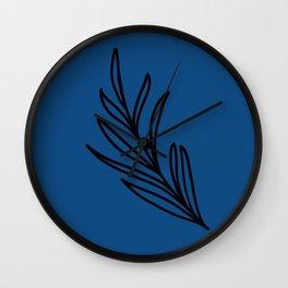 Feeling of lightness III - Blue Wall Clock