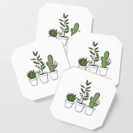 Three Little Succulents Coaster