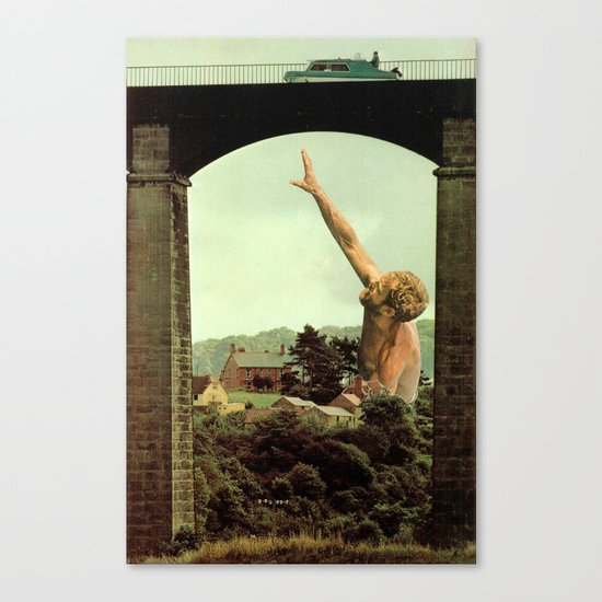drowning in the countryside Canvas Print