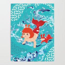 Baby Girl Mermaid Poster
