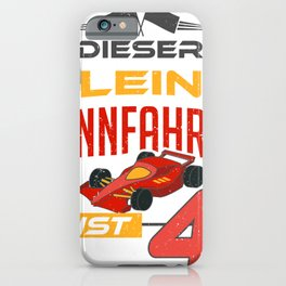 Little Car Racer Racing Red Auto Vintage Kids Gift iPhone Case