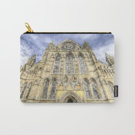 York Minster Cathedral Snow Art Carry-All Pouch