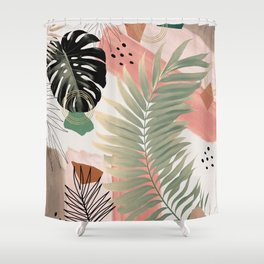 Palm Leaf Summer Glam #1 #tropical #decor #art #society6 Shower Curtain