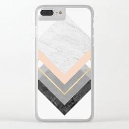Modern geometric art XVIII Clear iPhone Case