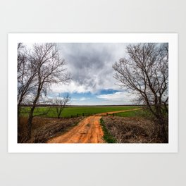 Take Me Home - Old Country Road in Oklahoma Art Print