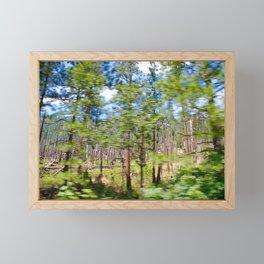 Tree Blur Framed Mini Art Print