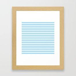 Oktoberfest Bavarian Blue and White Large Mattress Ticking Stripes Framed Art Print