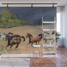 Horses Galloping Through Aspen Meadow Wall Mural