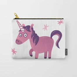 Purple and Pink Cute Unicorn with stars Carry-All Pouch