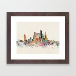 singapore skyline Framed Art Print