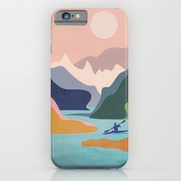 River Canyon Kayaking iPhone Case