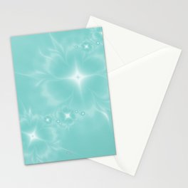 Fleur de Nuit in Aqua Tone Stationery Cards