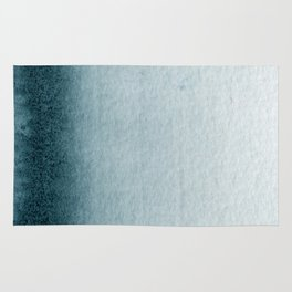 Teal Vertical Blur Abstract Art Rug