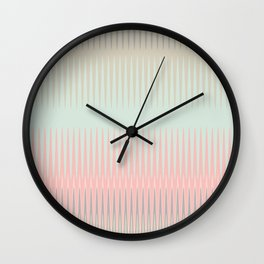 Blush Blue Weave triangles Ombre Wall Clock