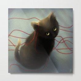 String Metal Print