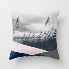 Grey Dunes Throw Pillow