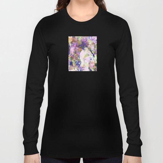 Colour Turmoil - Abstract Multicoloured Painting Long Sleeve T-shirt