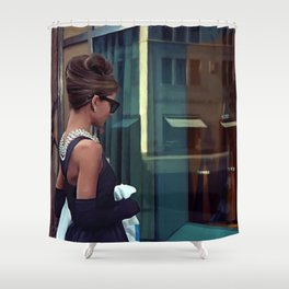 Audrey Hepburn #2 @ Breakfast at Tiffany's Shower Curtain