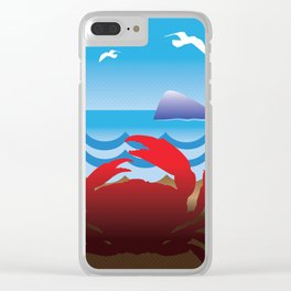 Crab Whale Watch Clear iPhone Case