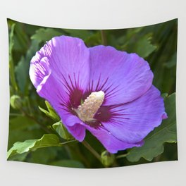Pink Floral Impression Wall Tapestry