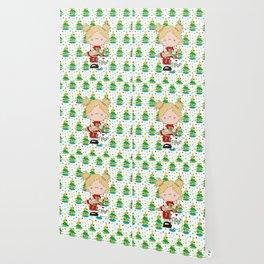 Cooking Christmas Cookies Wallpaper