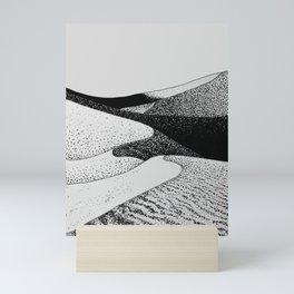 Black and White Sand Dune, Natural Geometry  Mini Art Print