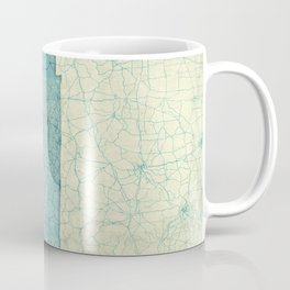 Tennessee State Map Blue Vintage Coffee Mug