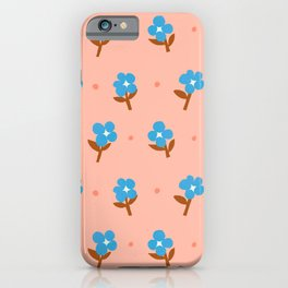 Abstraction_Little_Blue_Flowers iPhone Case