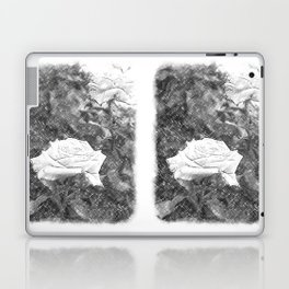 Pink Roses in Anzures 5 Charcoal Laptop & iPad Skin
