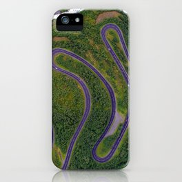Sinuous road iPhone Case