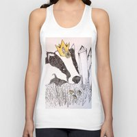 badger Tank Tops featuring Badger by Meredith Sweeney