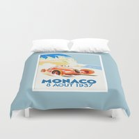 grand theft auto Duvet Covers featuring Grand Prix Monaco 1937 by aapshop