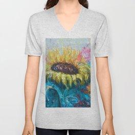 Sunny Flower by Lena Owens Unisex V-Neck