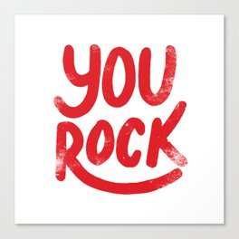 You Rock Vintage Red Canvas Print