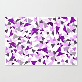 Triangel Purple pink Graphic Design Canvas Print