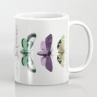 techno Mugs featuring Techno-Moth Collection by Zeke Tucker