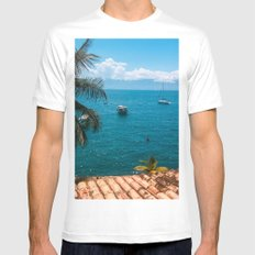 Boats MEDIUM Mens Fitted Tee White