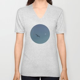 The seagull and the moon Unisex V-Neck