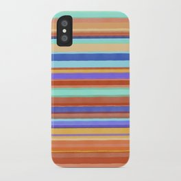 Tropical Stripes iPhone Case